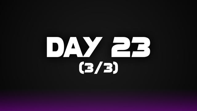 Day 23 (3/3)
