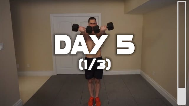 Day 5 (1/3): Chest Workout
