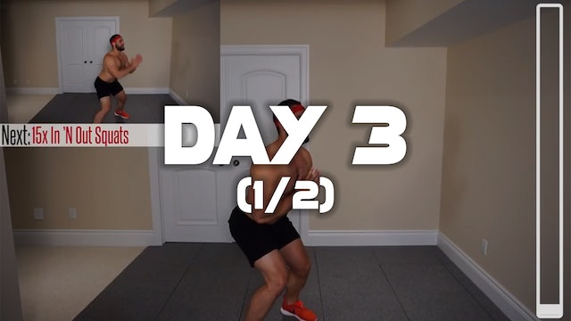 Day 3 (1/2): Belly Fat Cardio HIIT Workout