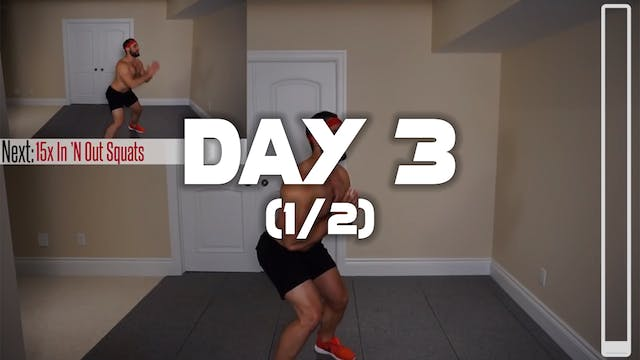 Day 3 (1/2): Belly Fat Cardio HIIT Wo...