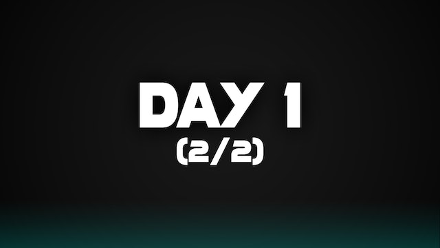 Day 1 (2/2)