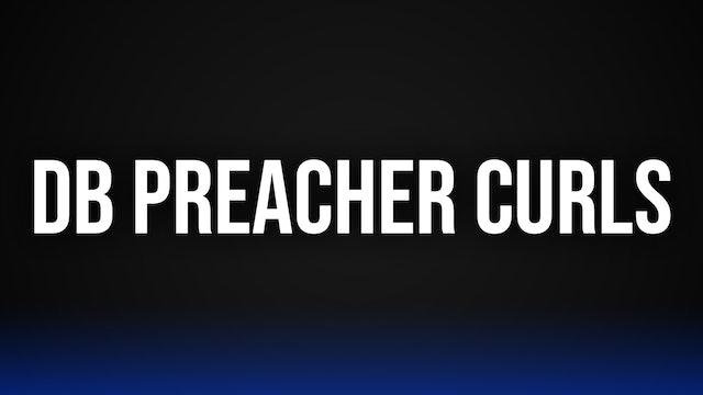Uni-Lateral DB Preacher Curls