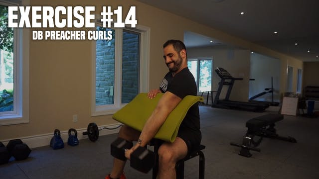 Uni-Lateral DB Preacher Curls