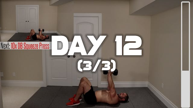 Day 12 (3/3): Chest Workkout