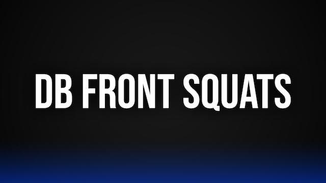 DB Front Squats
