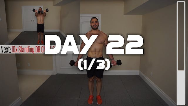 Day 22 (1/3): Chest & Arms Workout