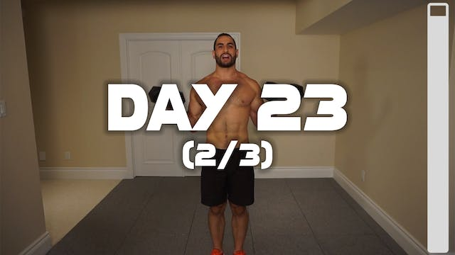 Day 23 (2/3): Back & Biceps Workout