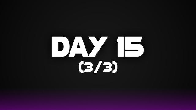Day 15 (3/3)