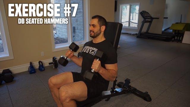 DB Seated Hammer Curls