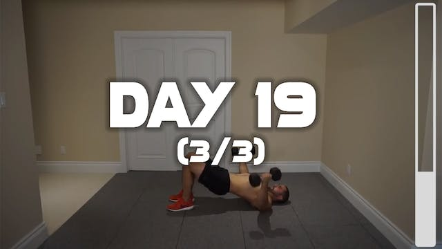 Day 19 (3/3): Chest & Biceps Workout
