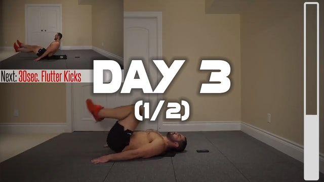 Day 3 (1/2): Lower Abdominal Workout