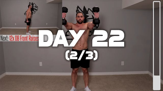 Day 22 (2/3): Shoulder Workout