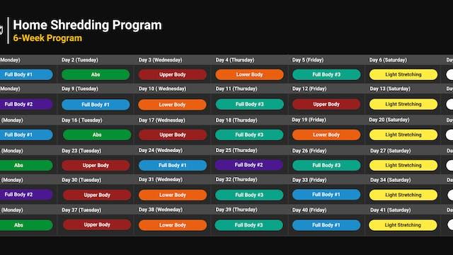 Home Shredding Program Schedule