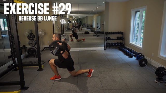 Reverse Barbell Lunge