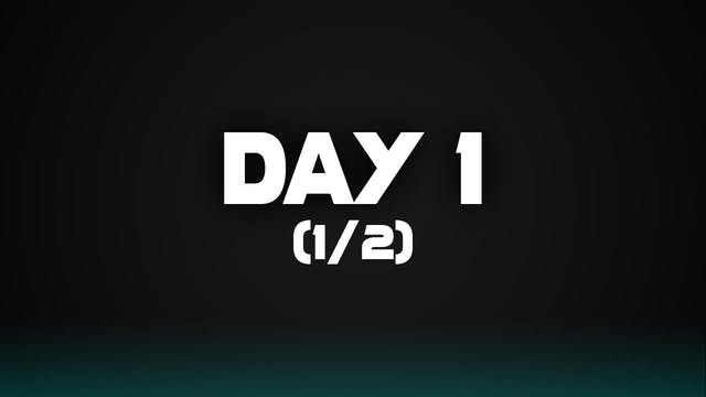 Day 1 (1/2)
