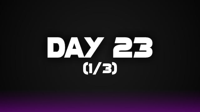 Day 23 (1/3)