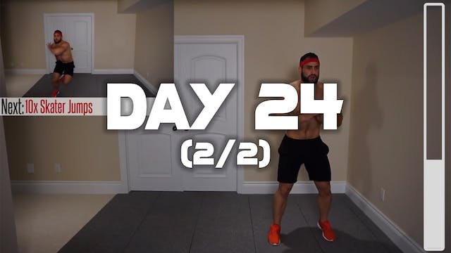 Day 24 (2/2): Belly Fat Cardio HIIT W...