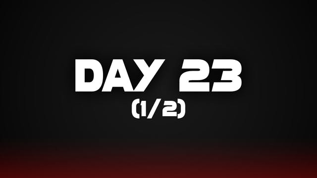 Day 23 (1/2)