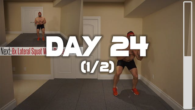 Day 24 (1/2): Fat Burning Workout