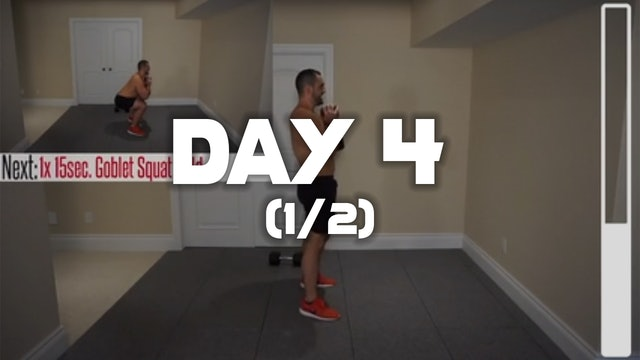 Day 4 (1/2): Lower Body Workout