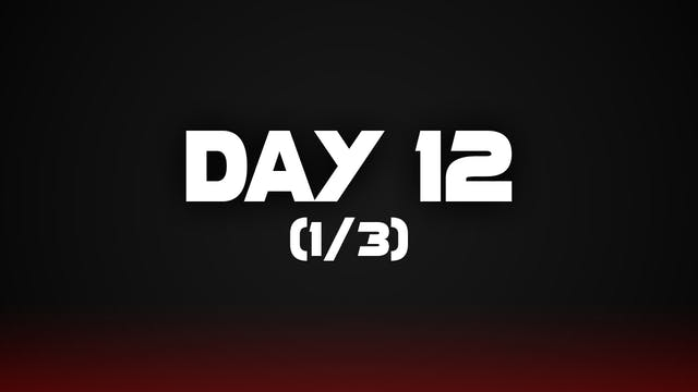 Day 12 (1/3)
