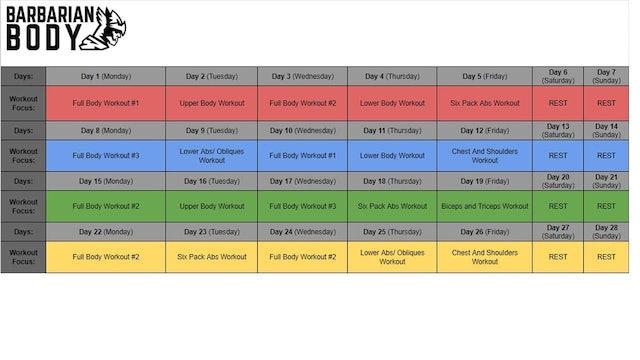 Dumbbell Beast Program Schedule
