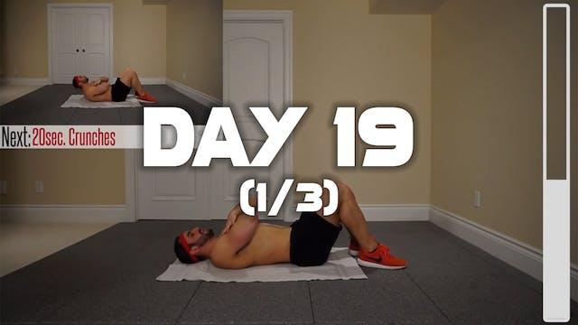 Day 19 (1/3): Abdominal Workout