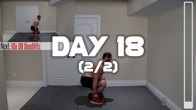 Day 18 (2/2): Lower Body Workout