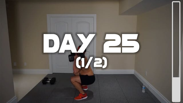 Day 25 (1/2): Leg Workout