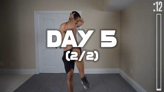 Day 5 (2/2): Fat Burning Workout