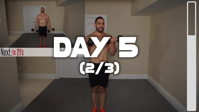 Day 5 (2/3): Chest & Arm Workout