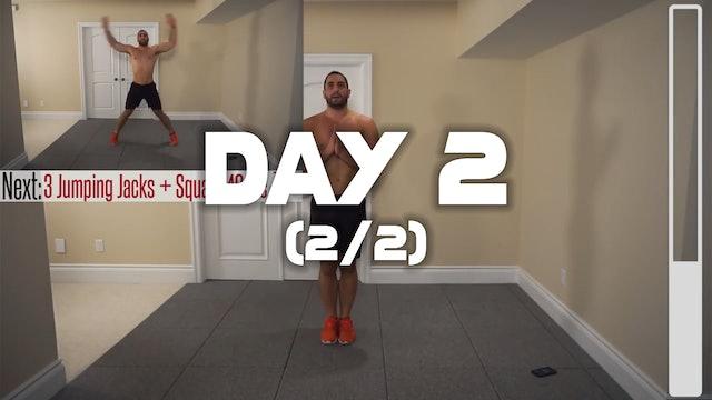 Day 2 (2/2): HITT Cardio Fat Burning Workout