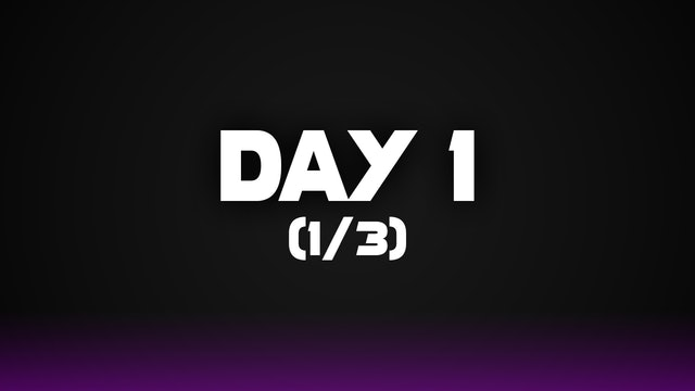 Day 1 (1/3)