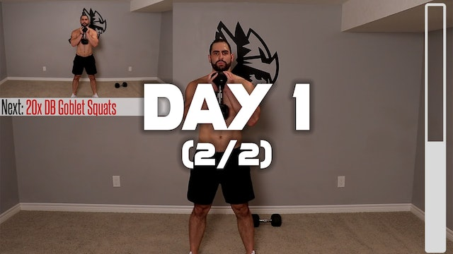 Day 1 (2/2): Full Body Workout #1