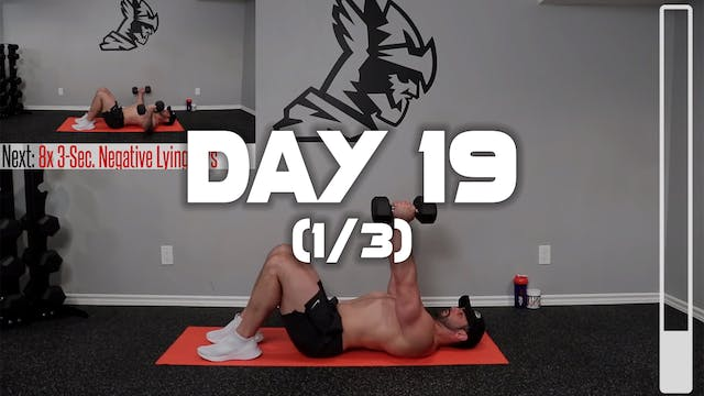 Day 19 (1/3): Chest Workout