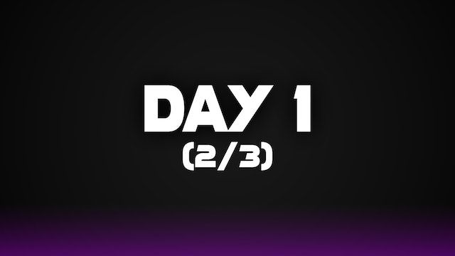 Day 1 (2/3)