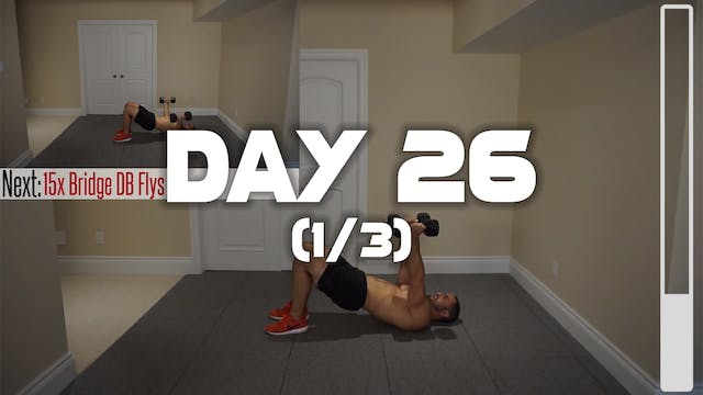 Day 26 (1/3): Chest & Triceps Workout