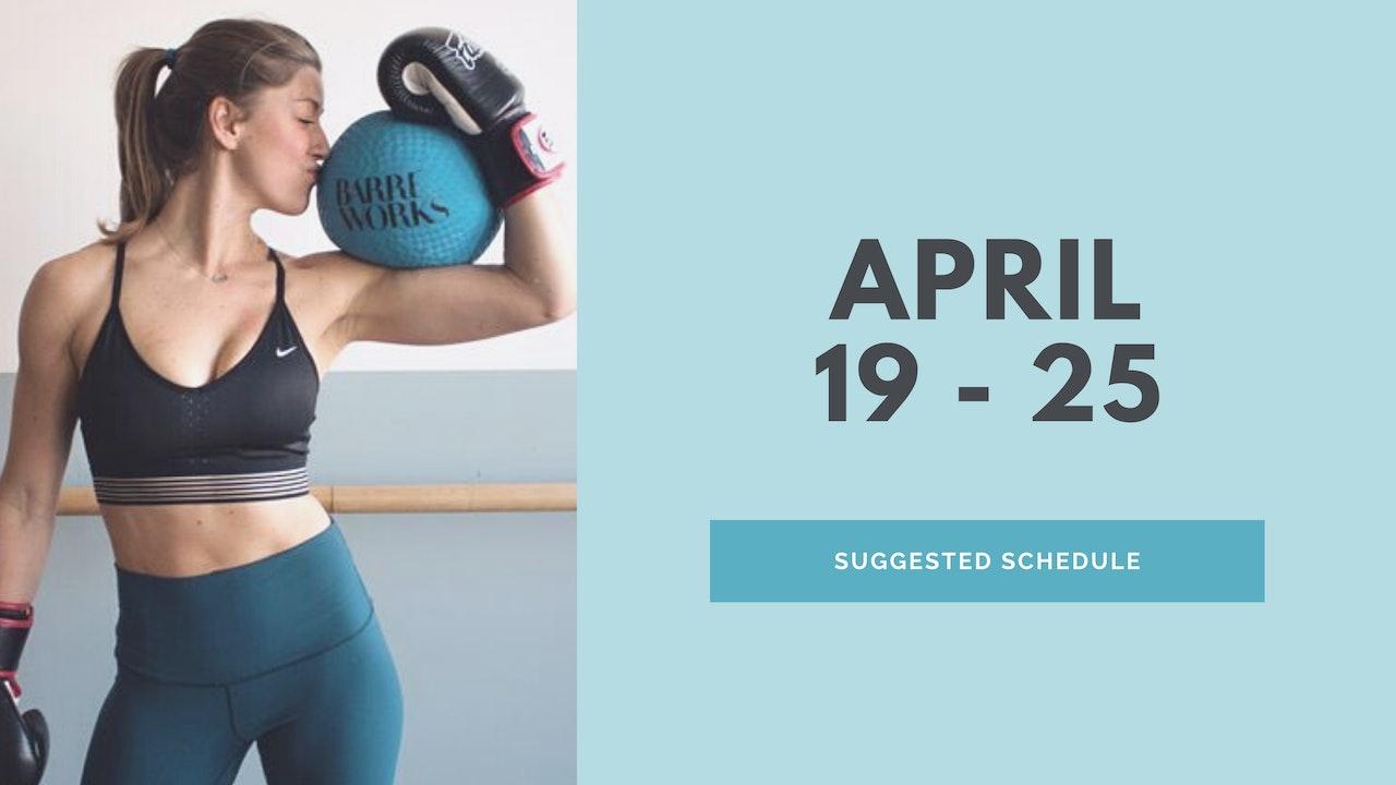 April 19 - 25 2021