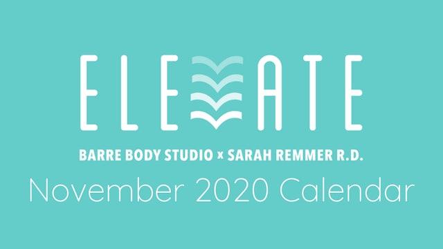 ELEVATE November 2020 Calendar