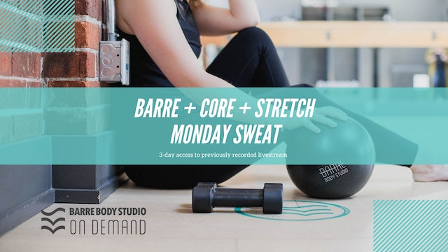 Barre + Core + Stretch Monday Rental Crystal (May)