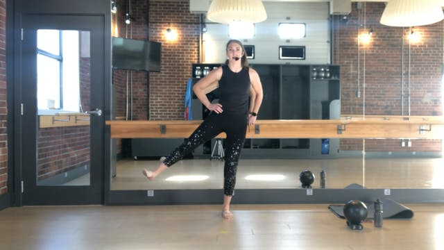 Barre Press with Sharon