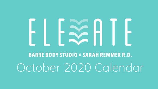 ELEVATE October 2020 Calendar