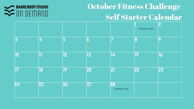 Blank October Challenge Calendar