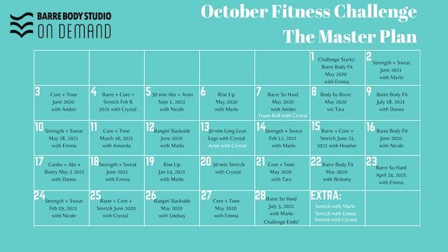 October Challenge: The Master Plan