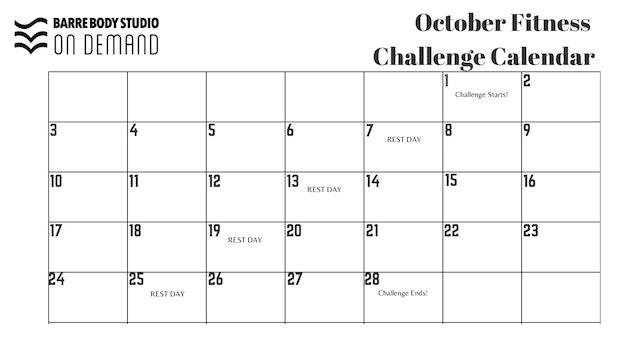 October Challenge BLANK (Black & White)