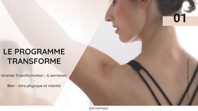 Programme Transforme : Sport & Nutrition