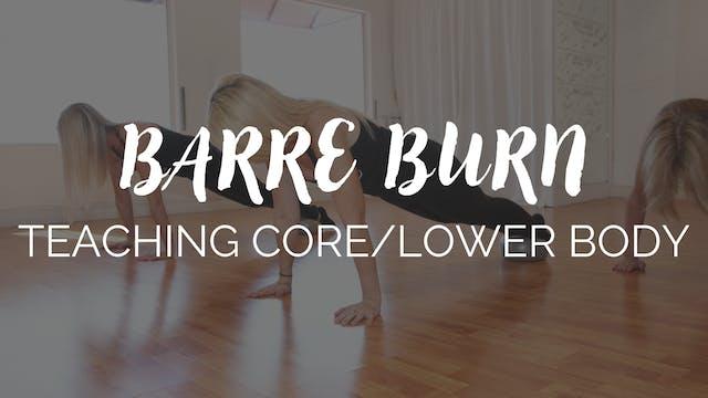 Teaching Core & Lower Body
