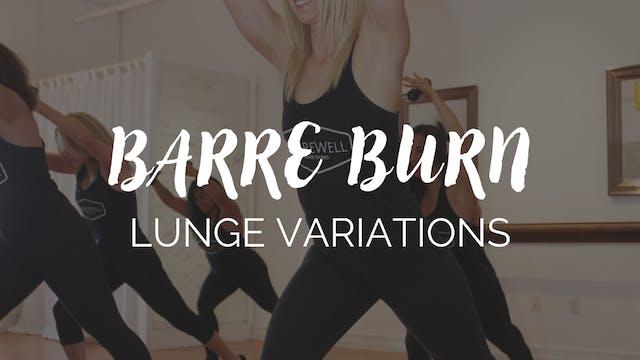 Barre Burn Class - Lunge Focus