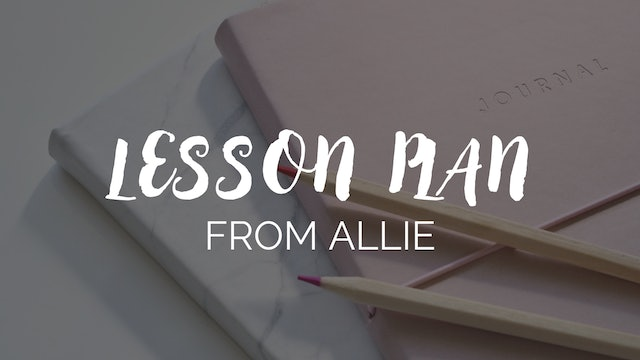 Sample Lesson Plan From Allie