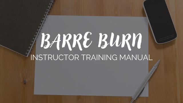 BarreWell Barre Burn Training Manual